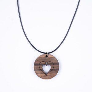 leseno darilo valentinovo lesena ogrlica 0