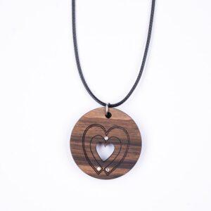 leseno darilo valentinovo lesena ogrlica 10