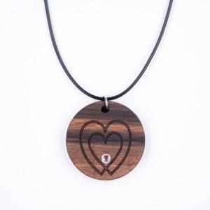 leseno darilo valentinovo lesena ogrlica 12
