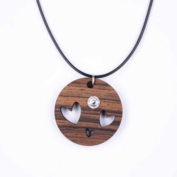leseno darilo valentinovo lesena ogrlica 14