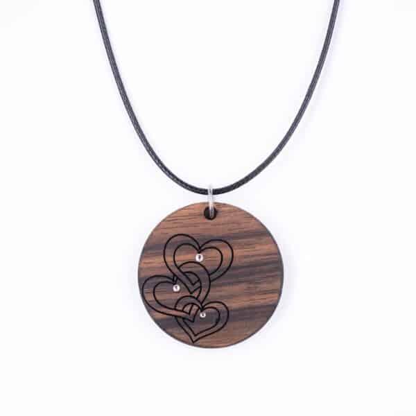 leseno darilo valentinovo lesena ogrlica 16