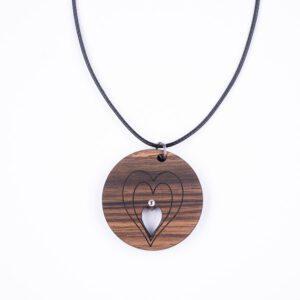 leseno darilo valentinovo lesena ogrlica 18