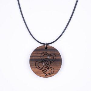 leseno darilo valentinovo lesena ogrlica 20