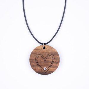 leseno darilo valentinovo lesena ogrlica 6