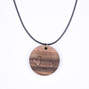 leseno darilo valentinovo lesena ogrlica 8