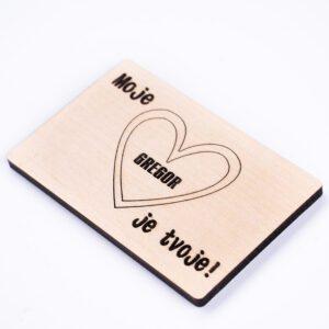 personalizirana lesena ploščica moje srce je tvoje