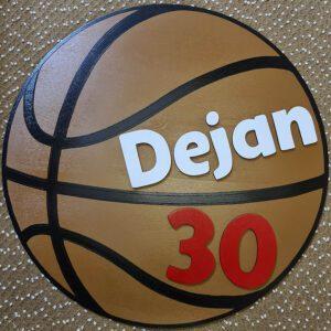 leseno darilo košarkaška žoga