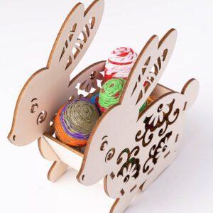 leseno darilo velika noč dvojni zajček