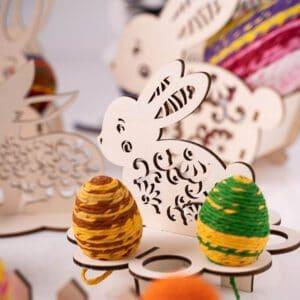leseno darilo velika noč zajček za jajčka 1