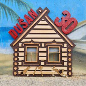 leseno darilo znak za obletnico brunarica