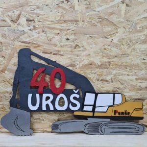 leseno darilo znak za obletnico delovni stroj
