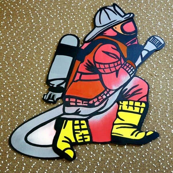 leseno darilo znak za obletnico gasilec