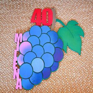 leseno darilo znak za obletnico grozdje