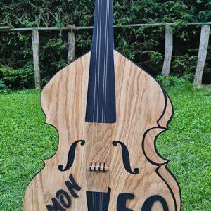 leseno darilo znak za obletnico kontrabas