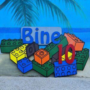 leseno darilo znak za obletnico lego kocke