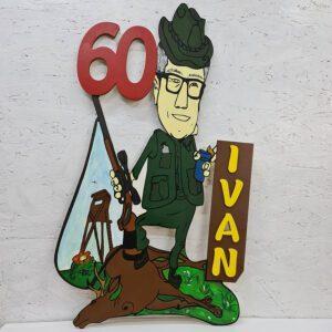 leseno darilo znak za obletnico lovec