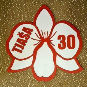 leseno darilo znak za obletnico orhideja