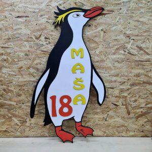 leseno darilo znak za obletnico pingvin