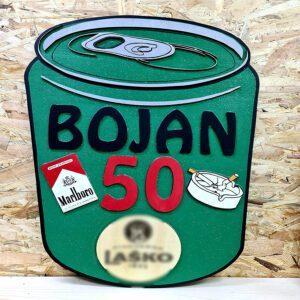 leseno darilo znak za obletnico pivo 1