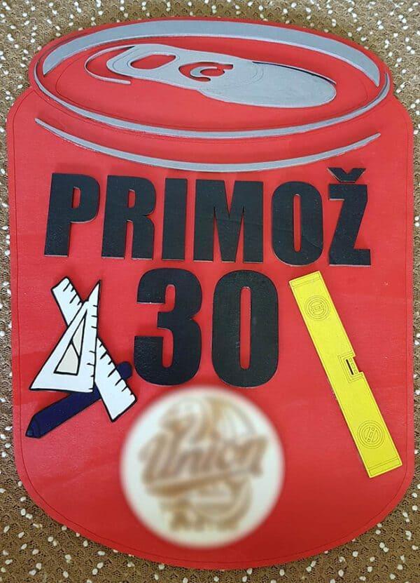 leseno darilo znak za obletnico pivo 2