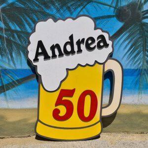 leseno darilo znak za obletnico pivo