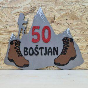 leseno darilo znak za obletnico planine