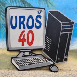 leseno darilo znak za obletnico računalnik
