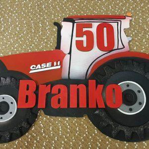 leseno darilo znak za obletnico traktor case
