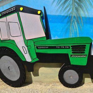 leseno darilo znak za obletnico traktor deutz