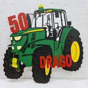 leseno darilo znak za obletnico traktor john deer