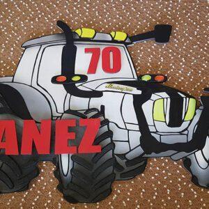 leseno darilo znak za obletnico traktor lamborghini