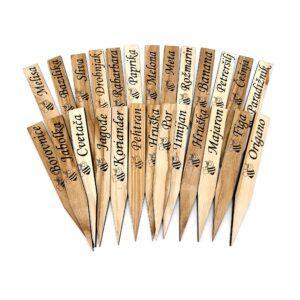 vrtni označevalci iz lesa