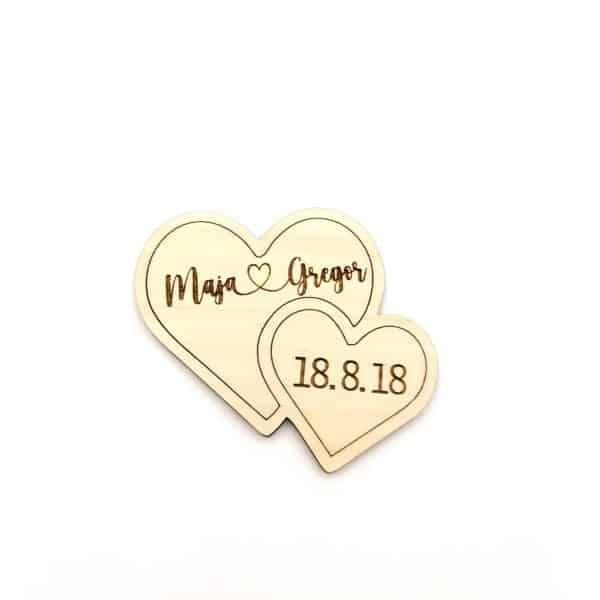Darila za svate- leseni srčki